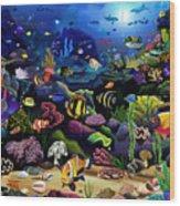 Colorful Reef Wood Print