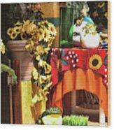 Colorful Restaurant Bucerias Wood Print