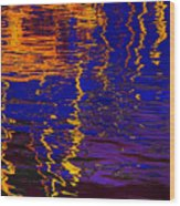 Colorful Ripple Effect Wood Print