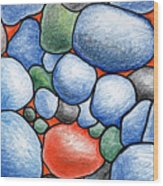 Colorful Rock Abstract Wood Print