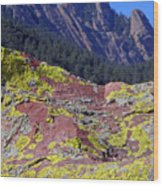 Colorful Rock Mesatrail Wood Print
