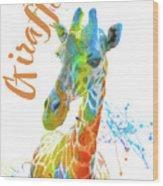 Colorful Safari Animals D Wood Print