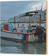 Colorful Saint Martin Power Boat Caribbean Wood Print