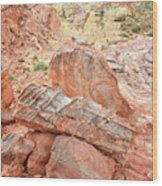 Colorful Sandstone In Wash 3 - Valley Of Fire Wood Print