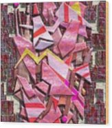 Colorful Scrap Metal Wood Print