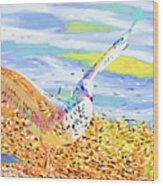 Colorful Seagull Wood Print