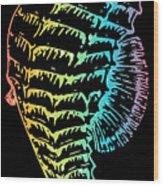 Colorful Seahorse Wood Print