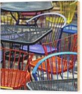 Colorful Seating Wood Print