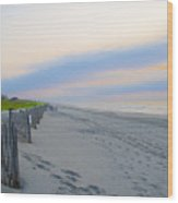 Colorful Skies On The Beach In Stone Harbor Wood Print