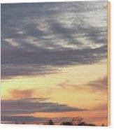 Sherbet Colored Sky Wood Print