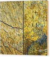 Colorful Slate Tile Abstract Composite H2 Wood Print
