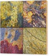 Colorful Slate Tile Abstract Composite Sq1 Wood Print