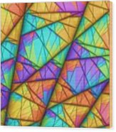 Colorful Slices Wood Print