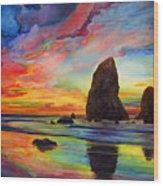 Colorful Solitude Wood Print