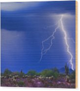 Colorful Sonoran Desert Storm Wood Print by James BO  Insogna
