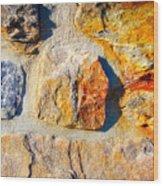 Colorful Stone Wood Print