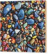 Colorful Stones I Wood Print