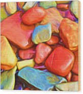 Colorful Stones Wood Print