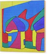 Colorful Street Art Wood Print