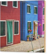 Colorful Street Wood Print