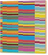 Colorful Stripes Wood Print