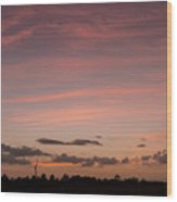 Colorful Sunset Over The Wetlands Wood Print