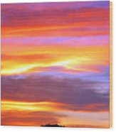 Colorful Sunset Wood Print