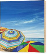 Colorful Sunshades Wood Print
