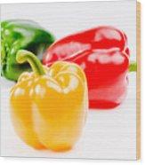 Colorful Sweet Peppers Wood Print by Setsiri Silapasuwanchai