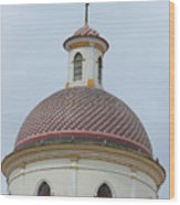 Colorful Tiles On A Church Dome Wood Print
