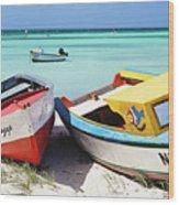 Colorful Traditional Fishing Boats Wood Print
