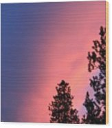 Colorful Twilight Time Wood Print
