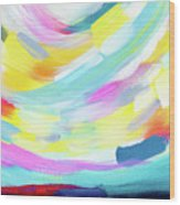 Colorful Uprising 4 - Abstract Art By Linda Woods Wood Print