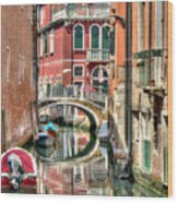 Colorful Venice  Wood Print