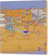 Colorful Venice Beach Wood Print