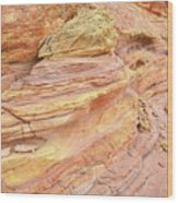 Colorful Wash 3 In Valley Of Fire Wood Print