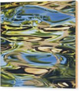 Colorful Water Ripples Wood Print by Dave Fleetham - Printscapes