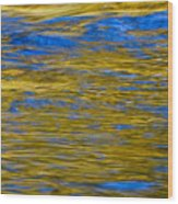 Colorful Water Surface Wood Print