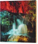 Colorful Waterfall Wood Print