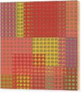 Colorful Weave Wood Print
