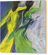 Colorful Women Wood Print