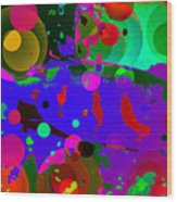 Colorful World Of A Fish Wood Print