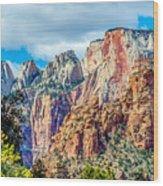Colorful Zion Canyon National Park Utah Wood Print