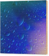 Colorfull Water Drop Background Abstract Wood Print