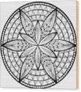 Coloring Book Mandala Wood Print