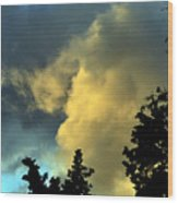 Coloring Clouds Wood Print