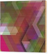 Dark Colorist Geometric Composition Wood Print