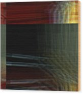 Colors Along The River Abstract Wood Print