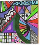 Colors Gone Wild Wood Print