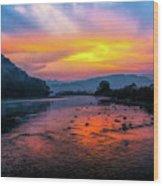 Colors Of Dawn Wood Print